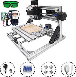 VEVOR CNC Machine 240x180mm CNC Router Kit 3 Axis CNC Router Machine GRBL Control with 5500mW Laser Power and ER11 and 5mm Extension Rod for Plastic Acrylic PCB PVC Wood Carving Milling Engraving