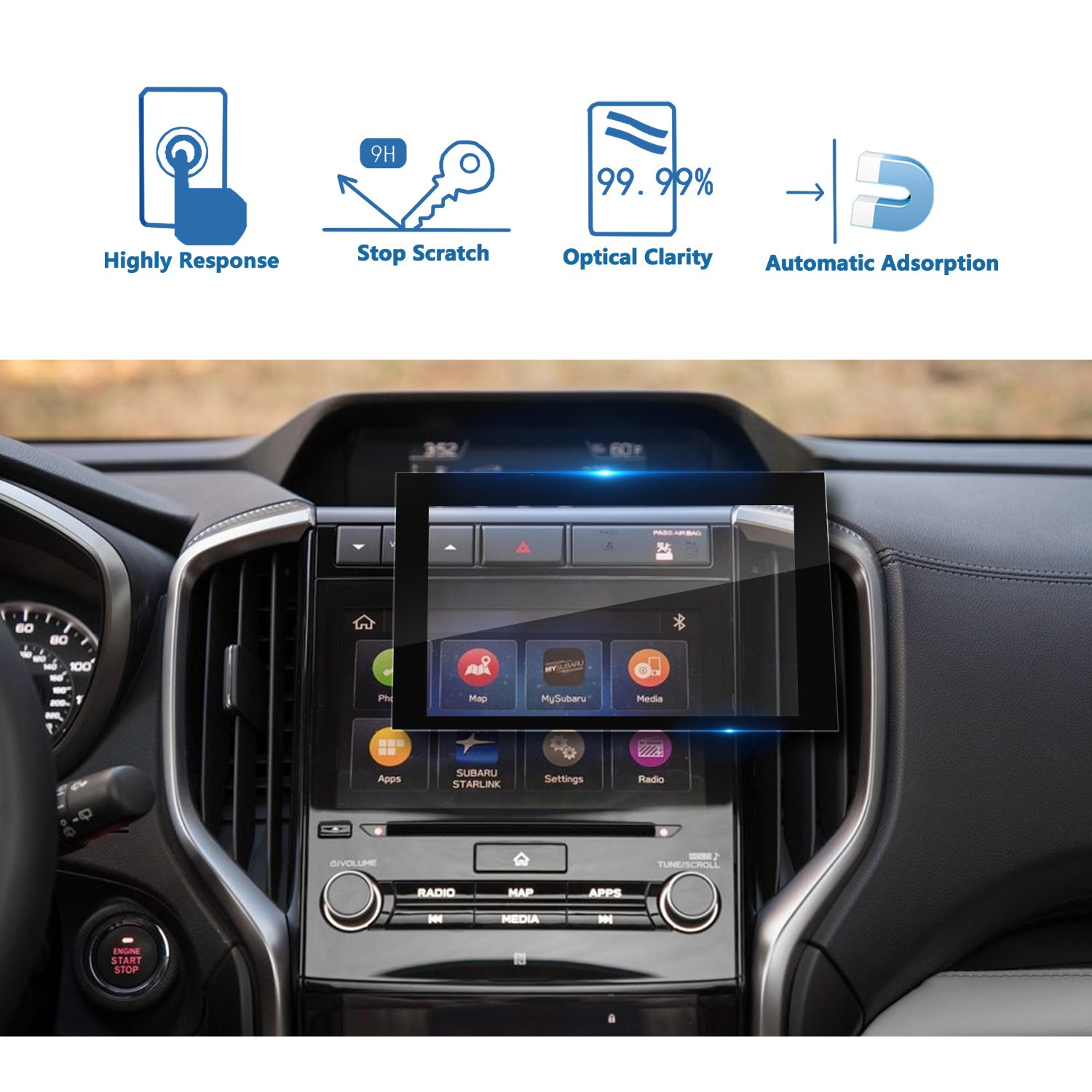 YEE PIN GPS System Accessories Navigation Display Tempered Glass Screen Protector for 2018 Mercedes Benz G-Class 12.3Inch Touch Screen Protector Anti-Explosion High Definition