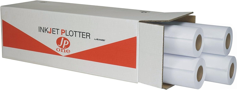 Papel Plotter Semi Blanca jp-one 60 gr caja 4 rollos 91,4 x 50 ...