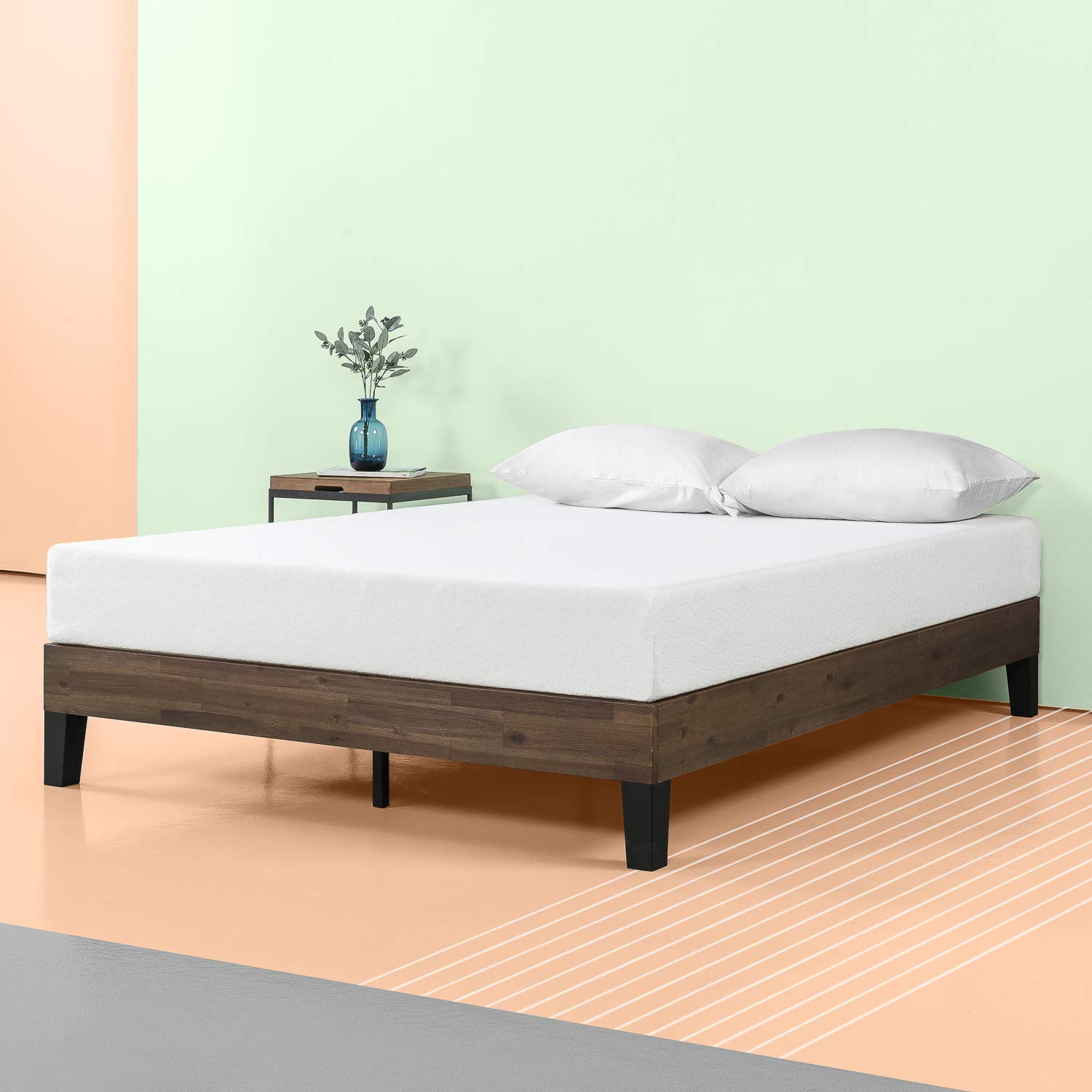 993b744e29 Amazon.com: Zinus 12 Inch Acacia Wood Platform Bed, No Boxspring Needed,  Wood slat support, Queen: Kitchen & Dining