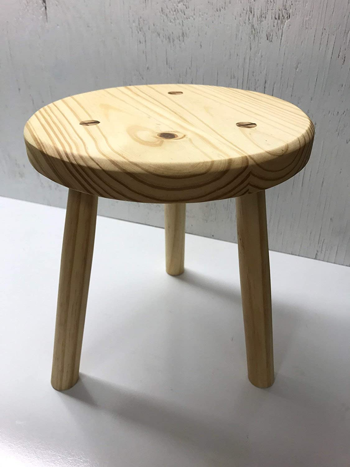 Wood Stool Sitting Stool Kitchen Stool Pine Stool Milking Stool Plant Stand 12