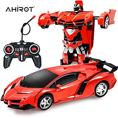 RC Car for Kids Transform Car Robot, Deformation Car Model Toy 1:18 Transformation Remote Control Vehicle for Children: Toys & Games