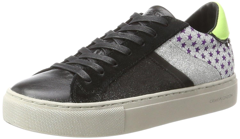 CRIME London Damen 25343a17b Sneaker Mehrfarbig (Schwarz Silber)