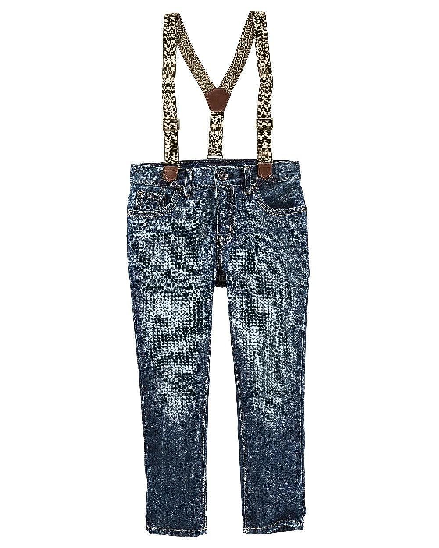 Timber Blue Wash 14 Kids OshKosh BGosh Big Boys Suspender Jeans