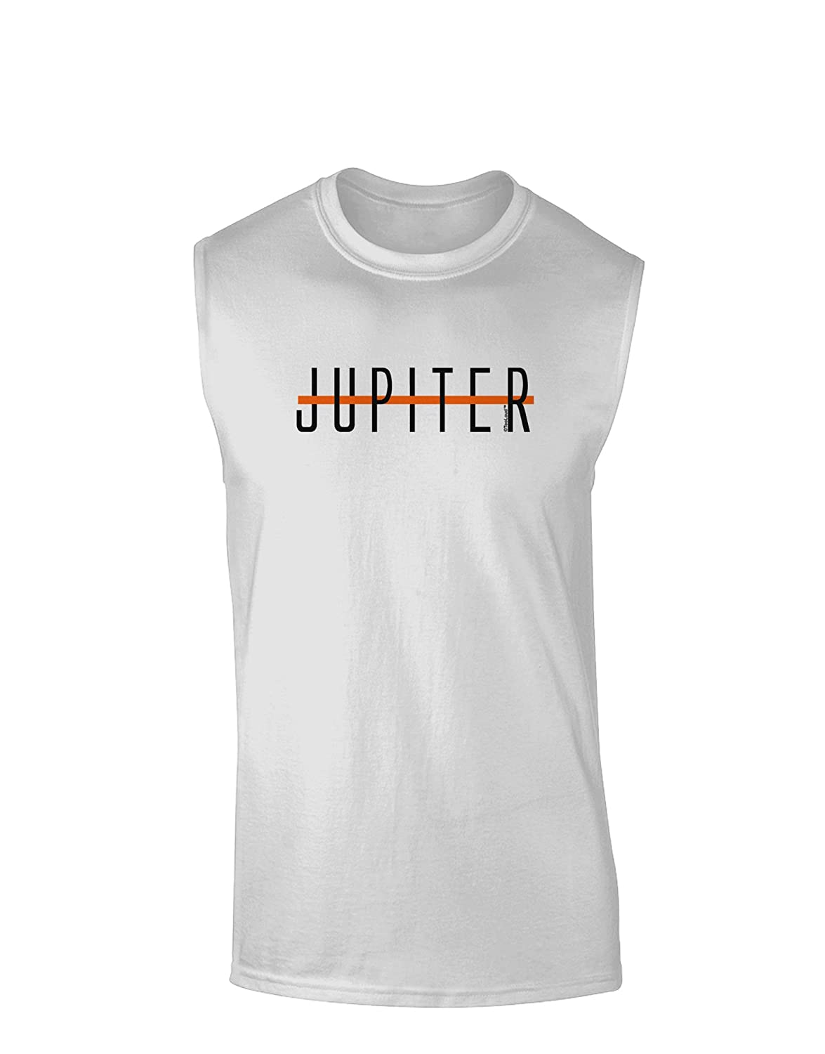 TooLoud Planet Jupiter Text Only Muscle Shirt