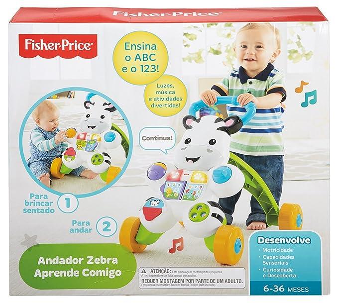 Fisher-Price - Cebra parlanchina Primeros Pasos, Andador bebés ...