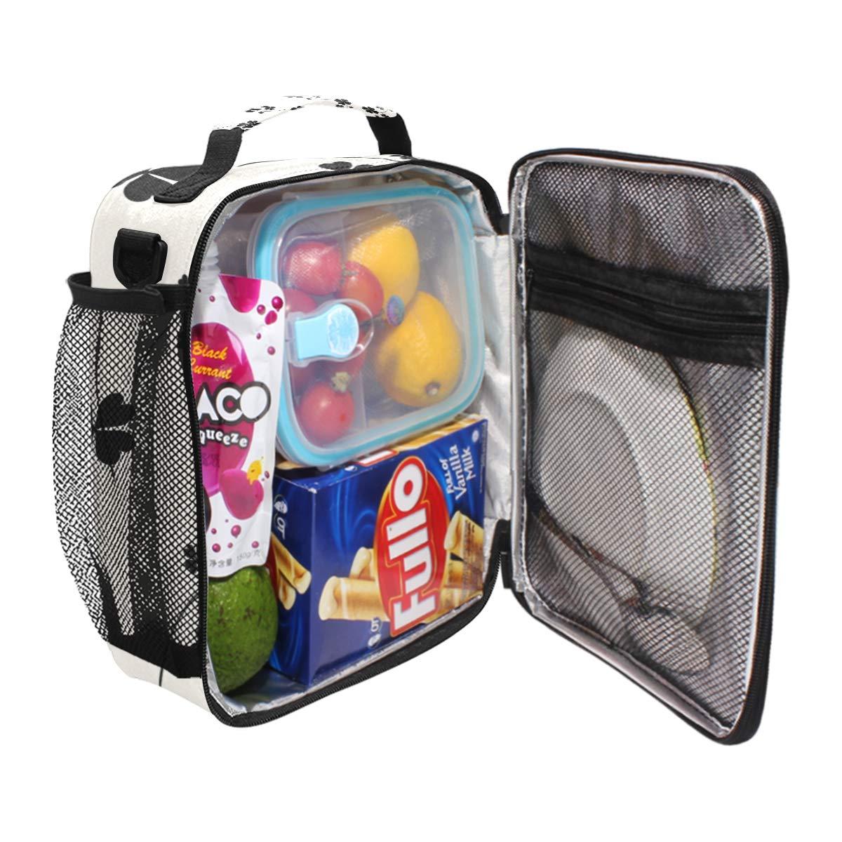 0c7e85fc9cf7 Amazon.com: FAJRO Black Clover Lunch Tote Bag Insulated Thermal ...