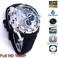 Full HD 1080P 1920×1080P Spy Camera Waterproof Watch Mini DV Hidden Night Vision Video Recording Voice Recorder