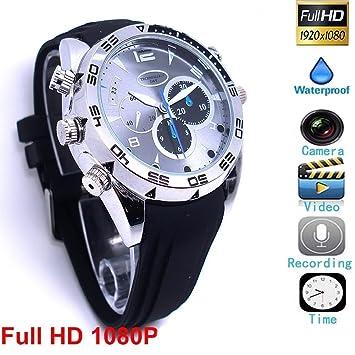 HD Mini DV 1080P Hebilla de la Pulsera del deporte Cámara Espía Recargable Protable reloj pulsera Videocámara de vigilancia con la Función de vibrar@Laing ...