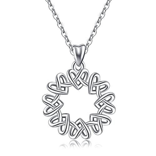 Amazon Com Aeonslove 925 Sterling Silver Celtic Knot Eternal Love