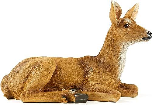 TAOBIAN Doe Female Deer Resin Statue-Animal Figurines Garden Sculpture Accessorie