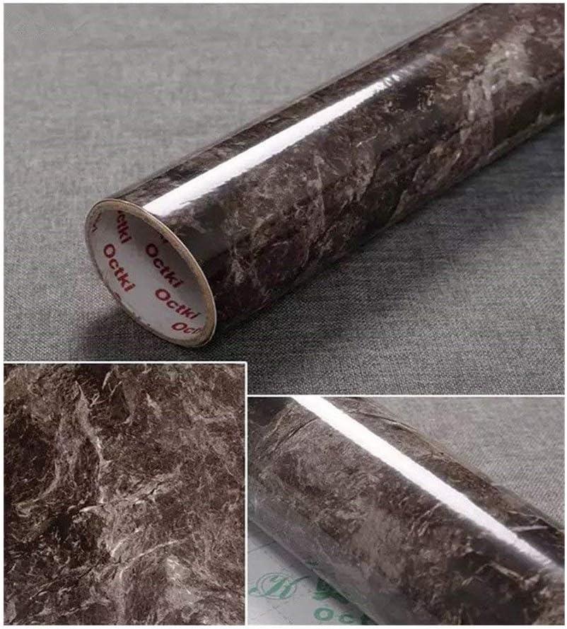 Marmol marrón Boeing Encimeras de la membrana Pegatinas de renovación de muebles en la encimera Papel tapiz autoadhesivo Papel pintado impermeable Armario Pegatinas de armario Papel de contacto del carrete 24 pulgadas