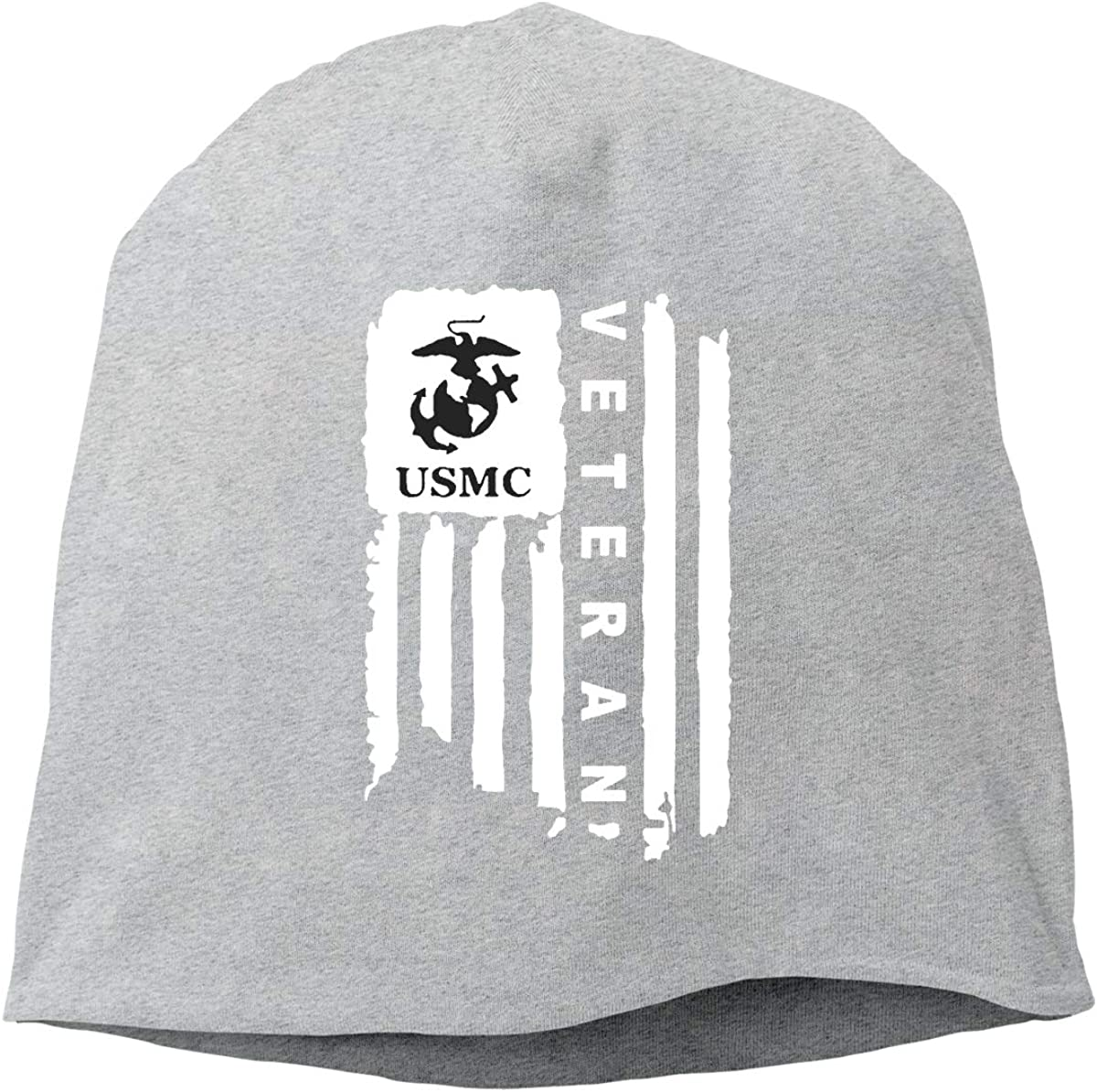 QKQ77 KK7 Marine Corps USMC American Flag Hedging Hat Unisex Skull Hat Knitted Hat Beanie Cap for Autumn//Winter Cap