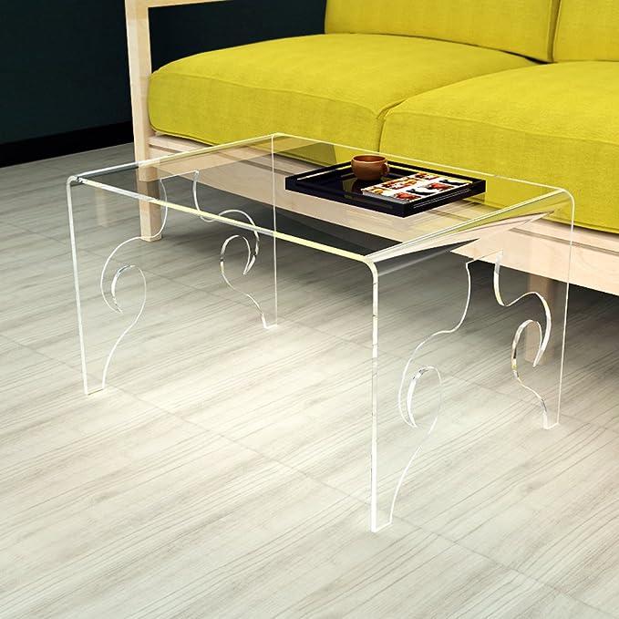 ONELUX Mesa de café con Ghost de acrílico de Cascada grabada, Mesa de café Lucite: Amazon.es: Juguetes y juegos