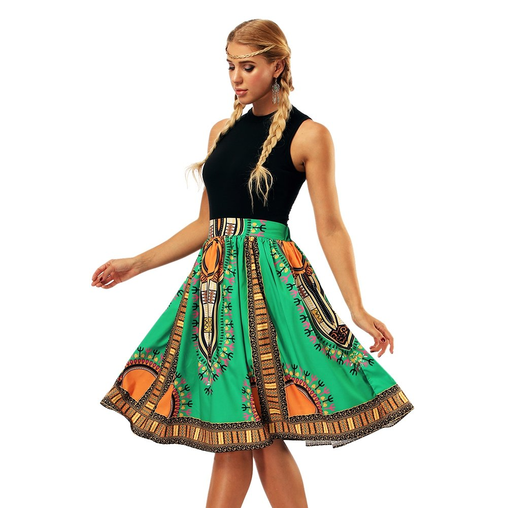 73b93aaa9e Hougood Gonne Donna Elegante Estate Vintage Africano Stampato ...