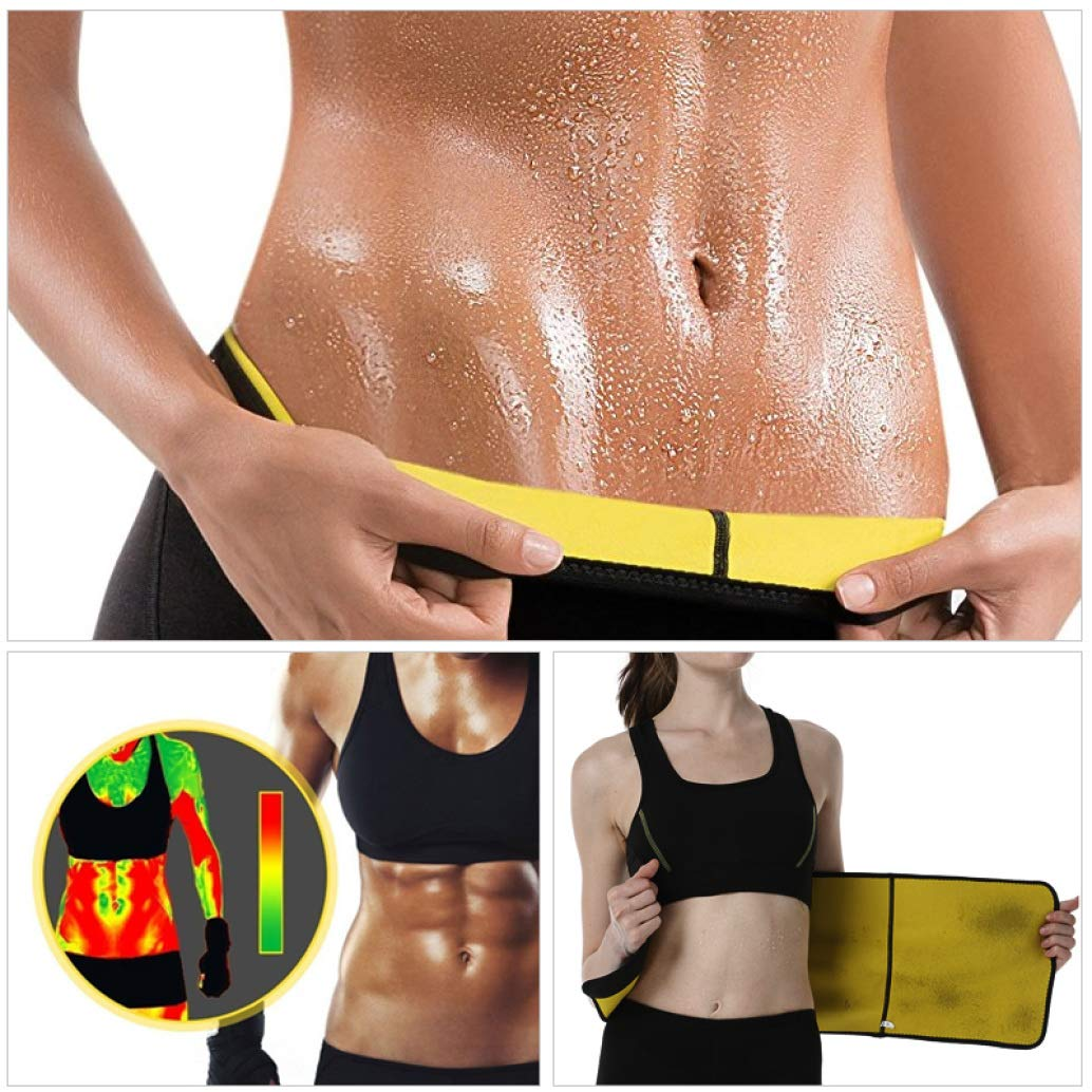 Neoprene Hot Shapers for Women Men Sauna Waist Trainer Waist Cincher Corset Tummy Slim Belt Sweat Girdle Underwear