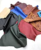Leather Scraps Upholstery Leather (2 lbs) Premium