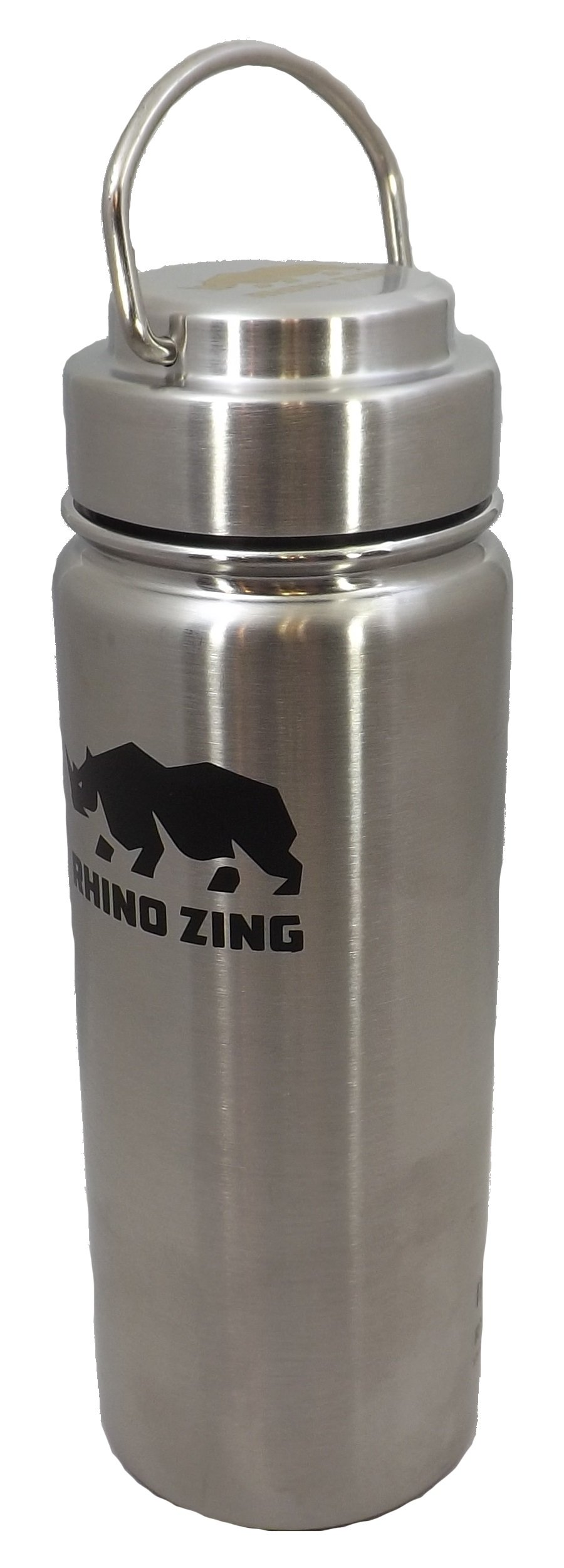 Rhino Zing 18-Ounce Beer Growler Stainless Steel Water Bottle with Stainless Steel Lid. Insulated, Wide Mouth by Rhino Zing (Image #6)