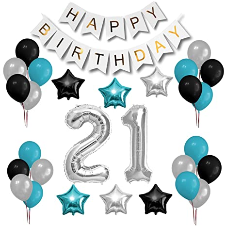 OFF 21st Birthday Party Decorations Set