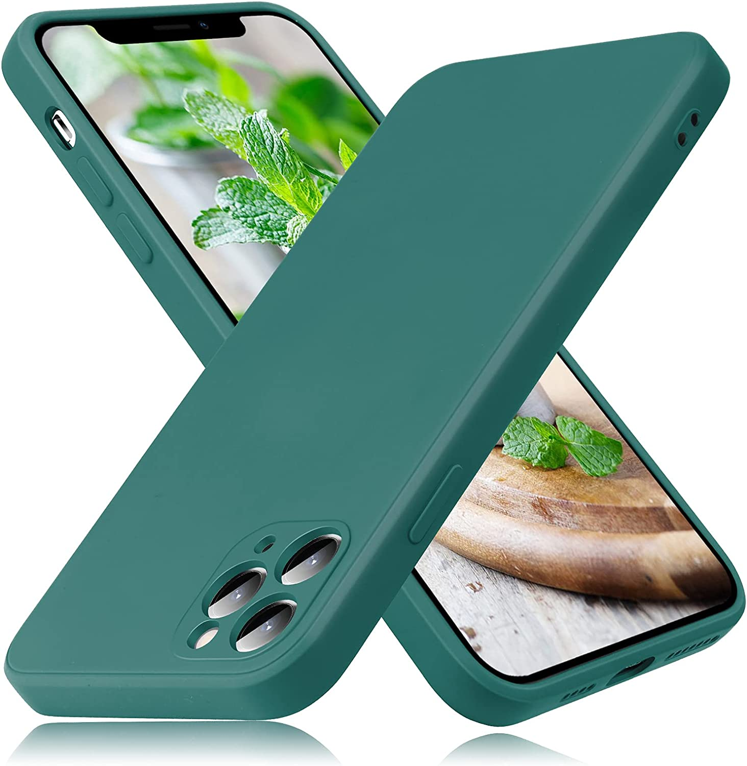 Peafowl Compatible with iPhone 11 Pro Max Case, Soft Liquid Silicone Full-Body Protective Case for iPhone 11 Pro Max(Dark Green)