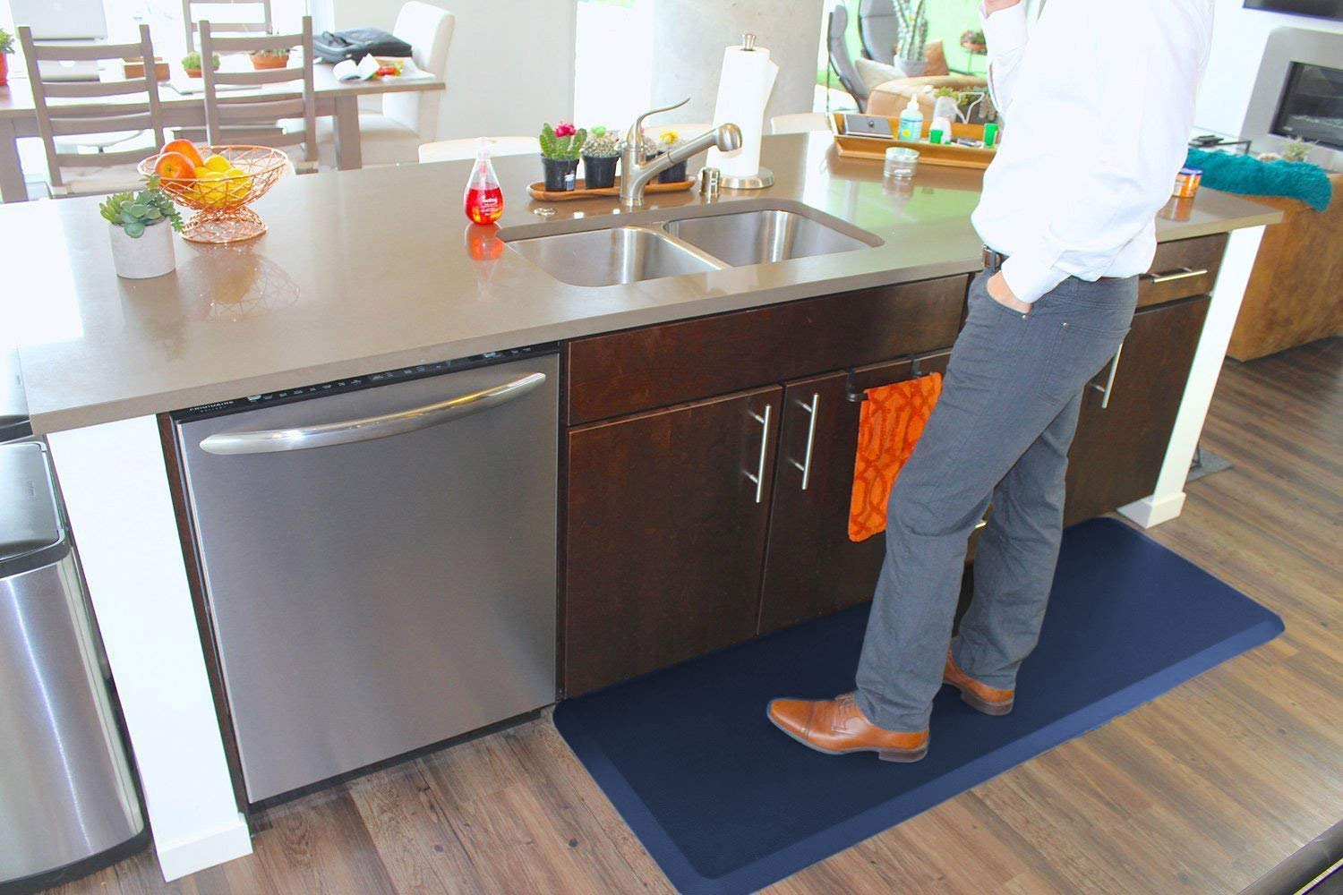 and Back Pain and Garages Relieves Foot Knee Kitchens 20x32x3//4-Inch, Midnight Black Anti Fatigue Comfort Floor Mat By Sky Mats -Commercial Grade Quality Perfect for Standup Desks