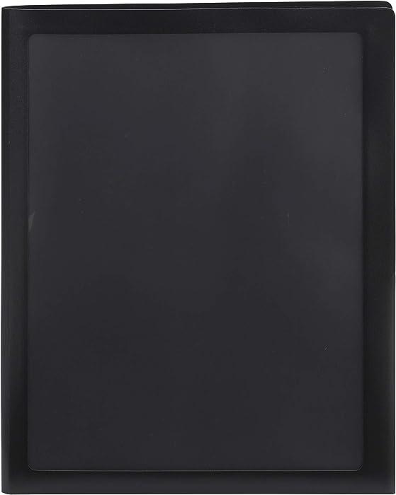 Smead Frame View Poly Two-Pocket Folder, Letter Size, Black, 5 Per Pack (87705)