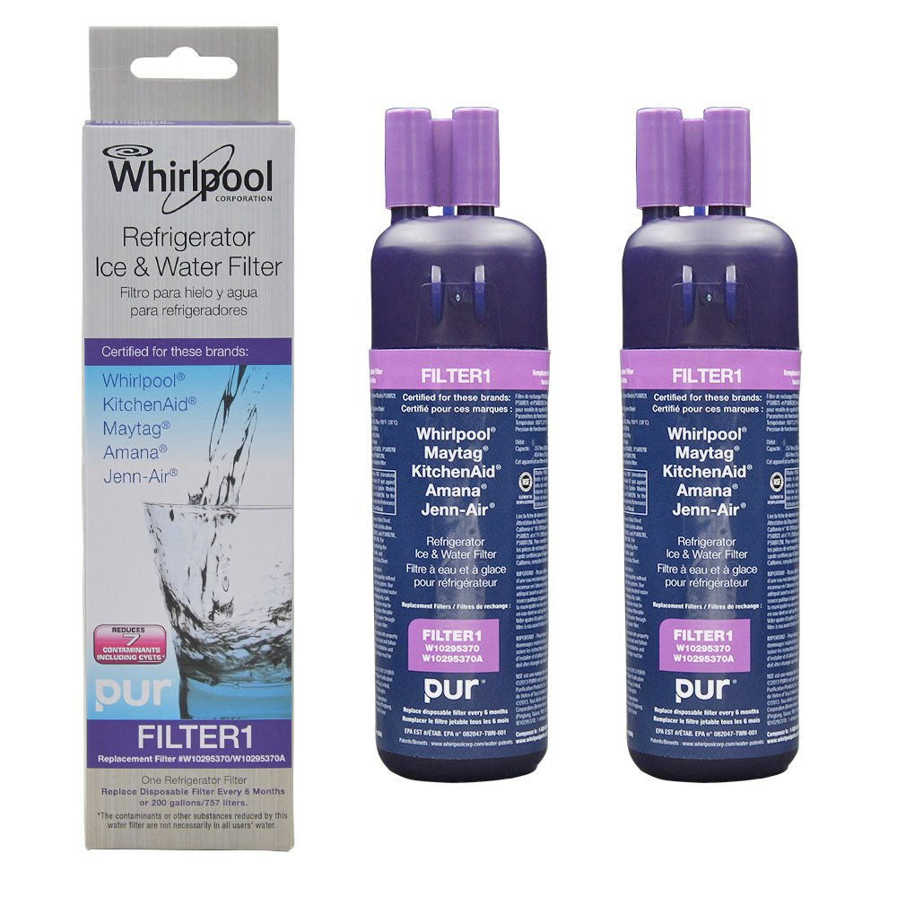 Filter 1 Whirlpool W10295370 W10295370A Refrigerator Water Filter New 2-Pack 10