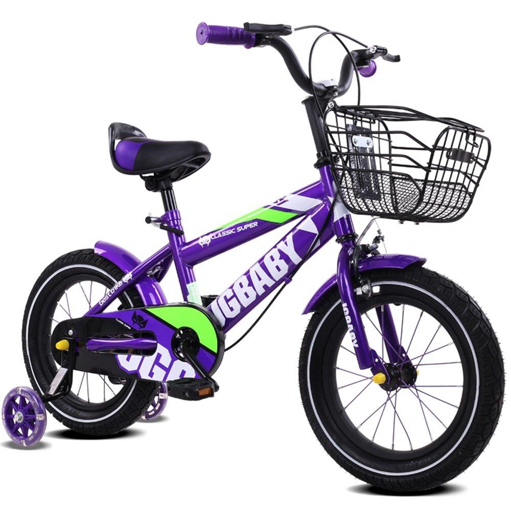 HAIZHEN マウンテンバイク 子供用自転車 トレーニングホイール付きの少年の自転車と少女の自転車 12インチ、14インチ、16インチ 子供の贈り物金属のおもちゃ 新生児 B07CG21V7B 12インチ|D D 12インチ