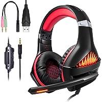 ShinePick Auriculares Gaming, 3.5mm Cancelación De Ruido Gaming