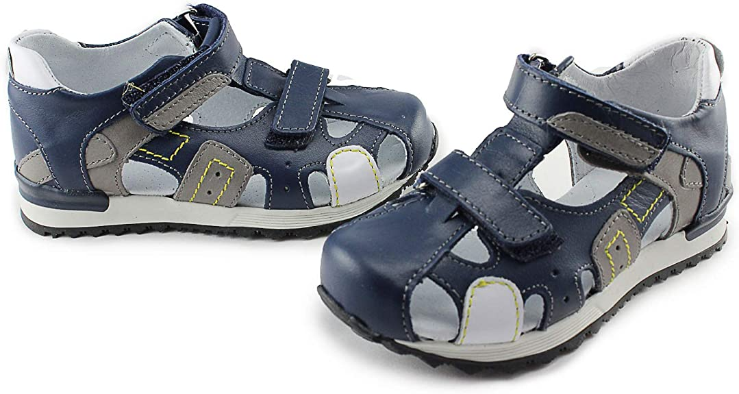 Ankle and Orthopedic Support 03752 M//Kobalt//S Kornecki Boys Closed Toe High Leather Sandals with Arch Toddler//Little Kid