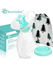 Bumblebee Manual Silicone Breast Pump Breastfeeding Collection milk Pump Star Shape Silicone Stopper with lid in Gift Box bpa Free &Food Grade Silicone Breast Pump …