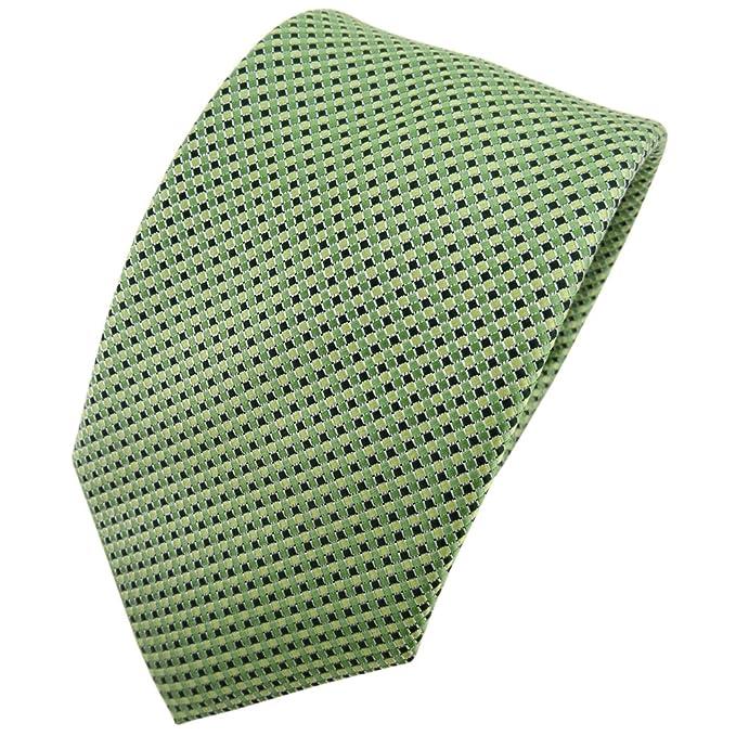 Hennes cologne - corbata de seda de calidad - verde plata lunares ...