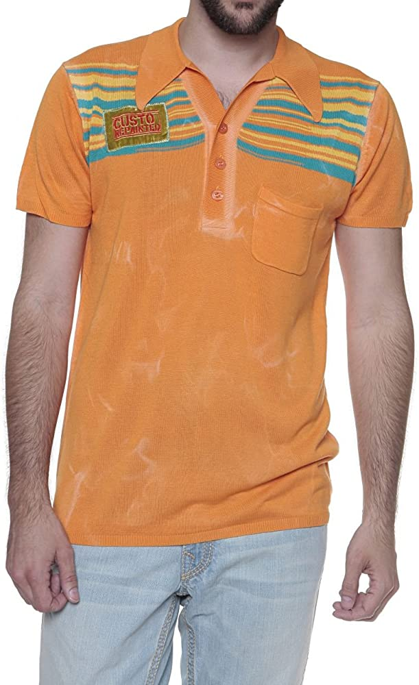 Custo Barcelona Polo hombre, Color: Naranja, Talla: 3XL: Amazon.es ...