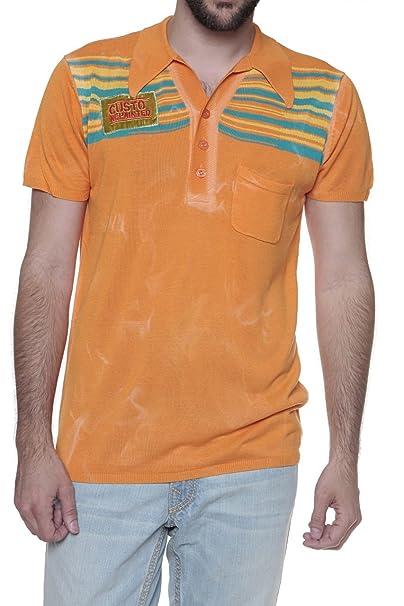 Custo Barcelona Polo CUSTO, Color: Naranja: Amazon.es: Ropa y ...