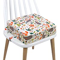 Toddler Booster Seat Dining, Cartoon Canvas Washable 2 Straps Safety Buckle Kids Booster Seat for Dining Table, Portable…