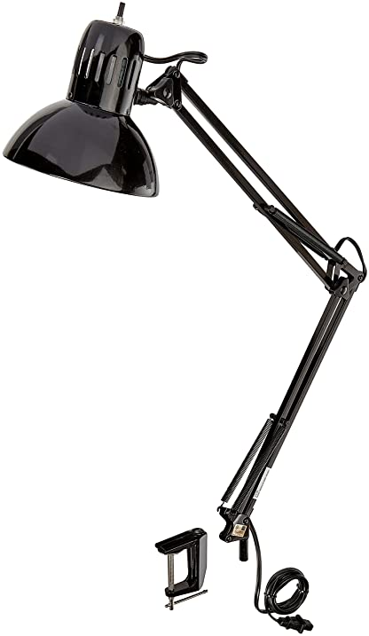 Globe electric 32 multi joint desk lamp with metal clamp black globe electric 32quot multi joint desk lamp with metal clamp black finish publicscrutiny Image collections
