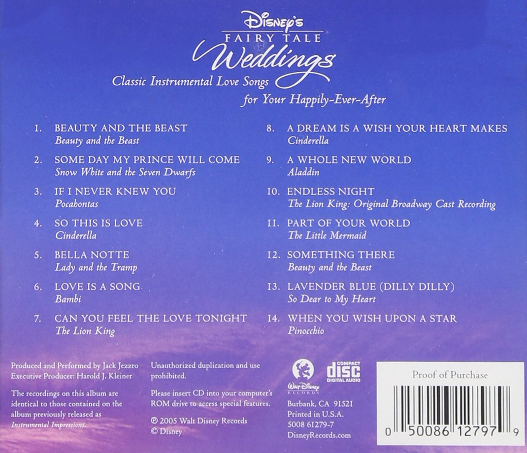 Disney Wedding Songs.Disney S Fairy Tale Weddings Instrumental