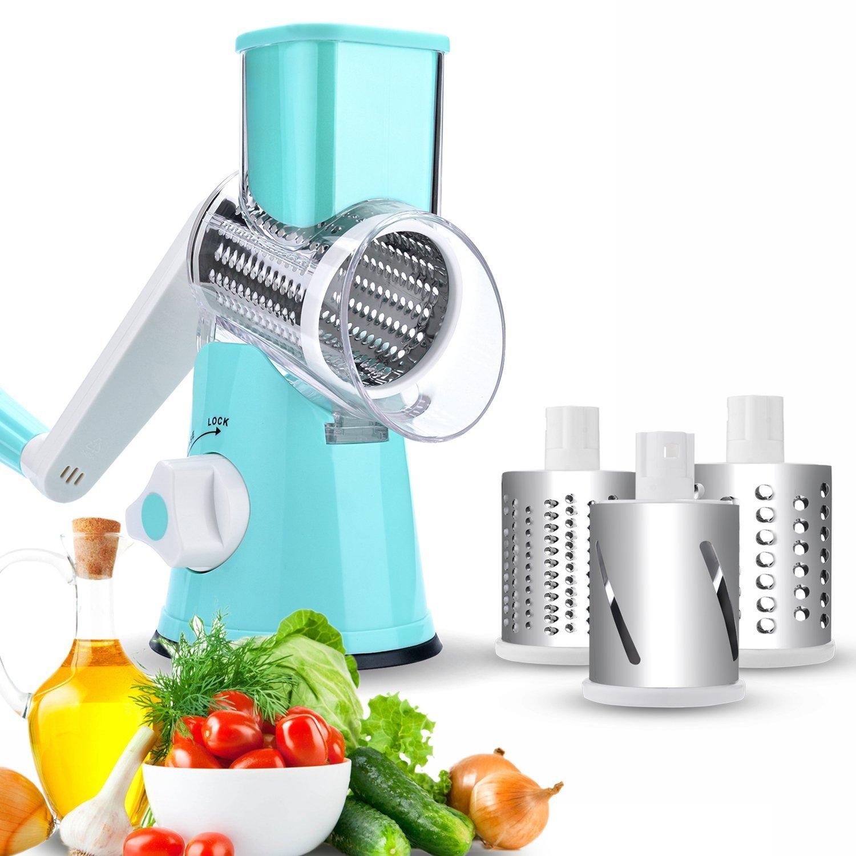 Amazon.com: Vegetable Slicer, Fitnate Hand Crank Stainless Steel ...