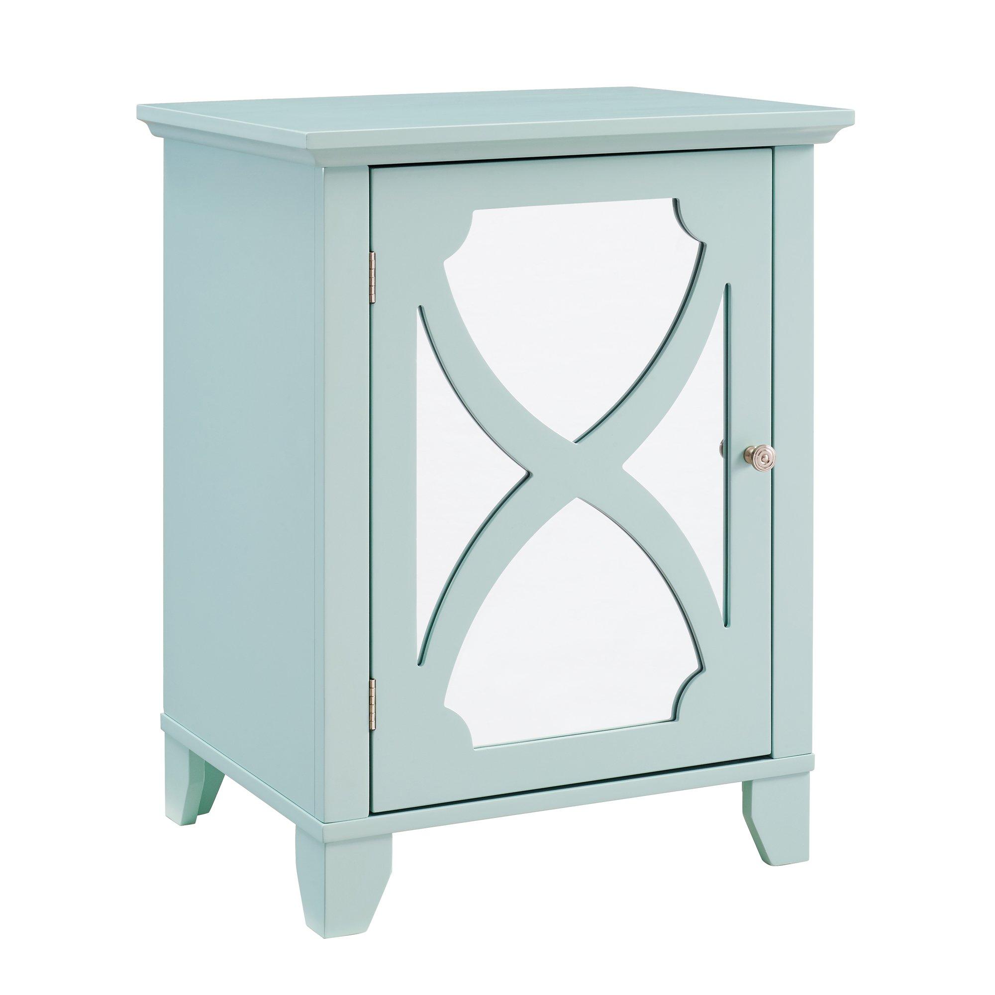 Linon WK124SEA01U Cabinet, Seafoam
