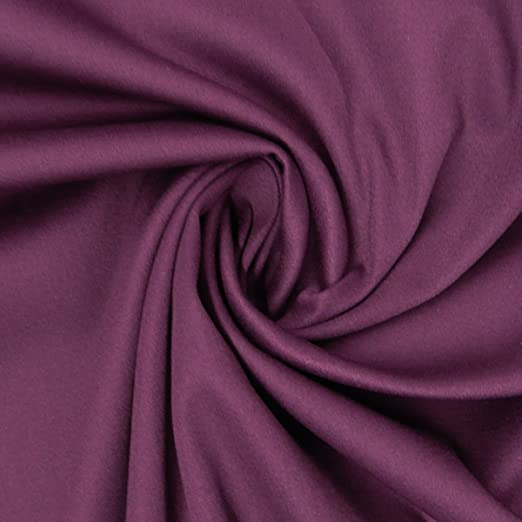 Tela de algodón, género al metro satén Spandex Lila 1,45 m ancho ...