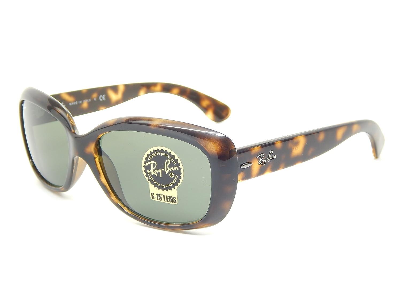 b51ebf8205 Amazon.com  Ray Ban Jackie OHH RB4101 710 Tortoise Green Classic 58mm  Sunglasses  Clothing