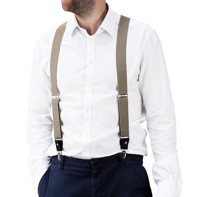 aspetto dettagliato godere di un prezzo economico più economico Bretelle da Uomo per Pantaloni di Fattura Superiore, Forma a ...