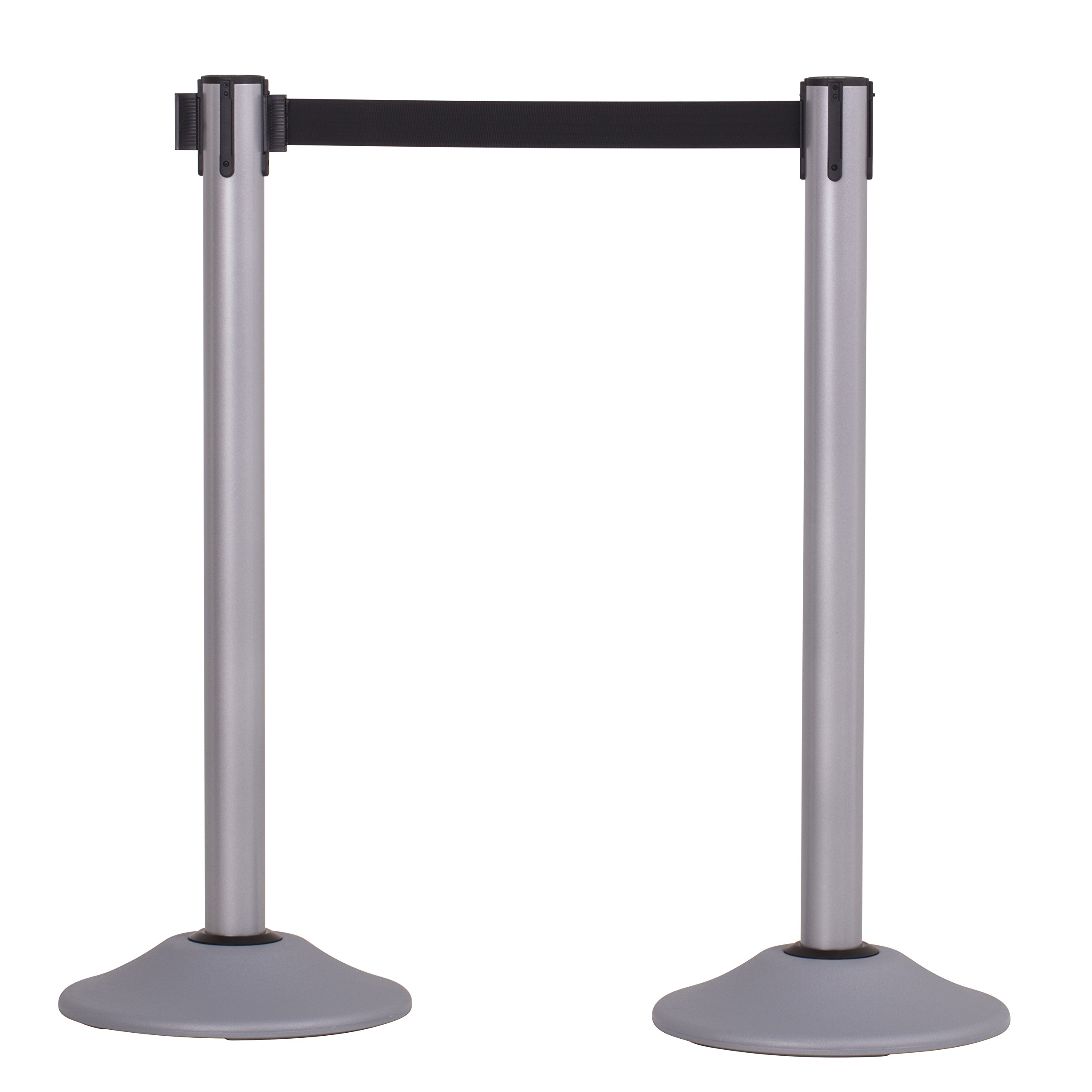 US Weight Heavy Duty Premium Steel Stanchion with Extended 13-Foot Retractable Belt - Silver by US Weight