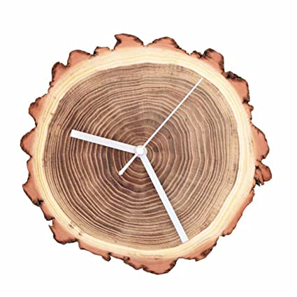 Wall Clocks Handmade wood ring clock minimalist bedroom living room study art wood watches creative personality