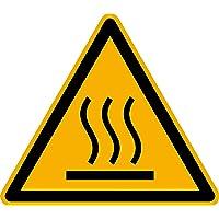 Pegatinas de advertencia sobre la superficie caliente W017