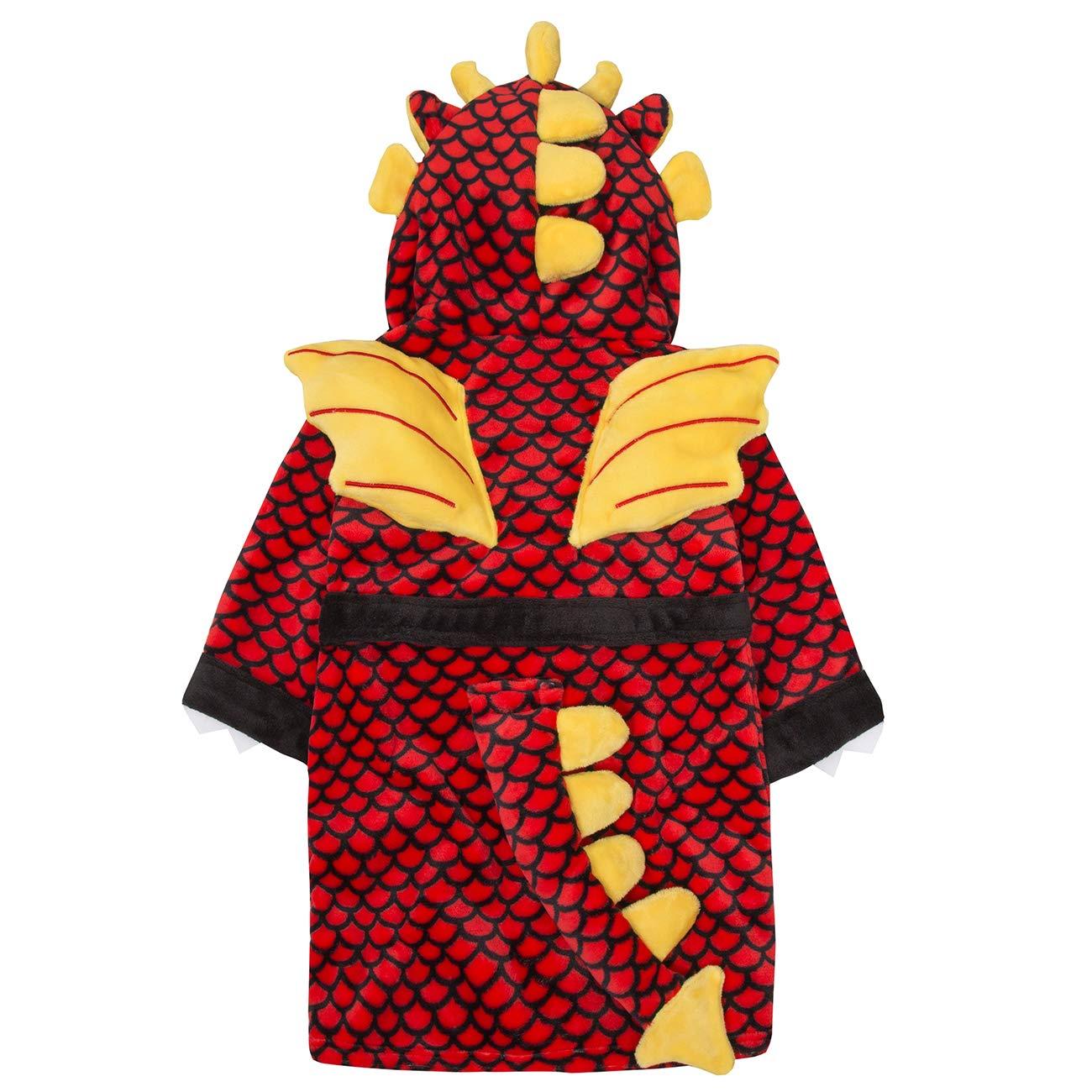 Metzuyan Boys Novelty Hooded Dragon Plush Dressing Gown