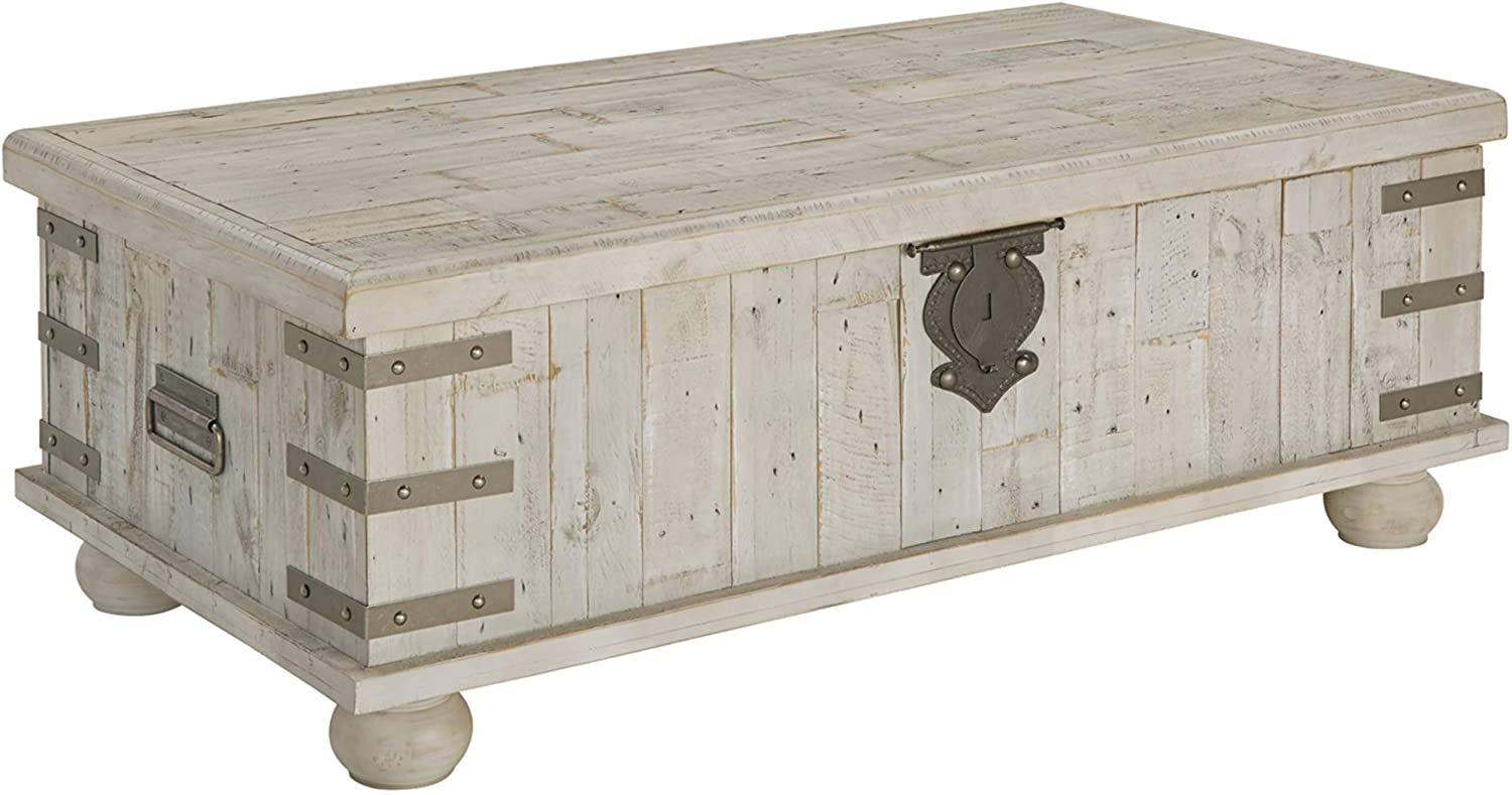 Signature Design By Ashley Carynhurst Coffee Table Distressed Finish White Amazon Ca Home Kitchen