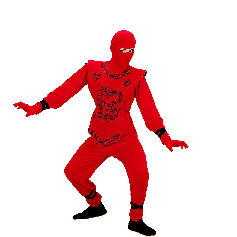 Amazon.com: Childrens Red Ninja Costume Small 5-7 Yrs ...