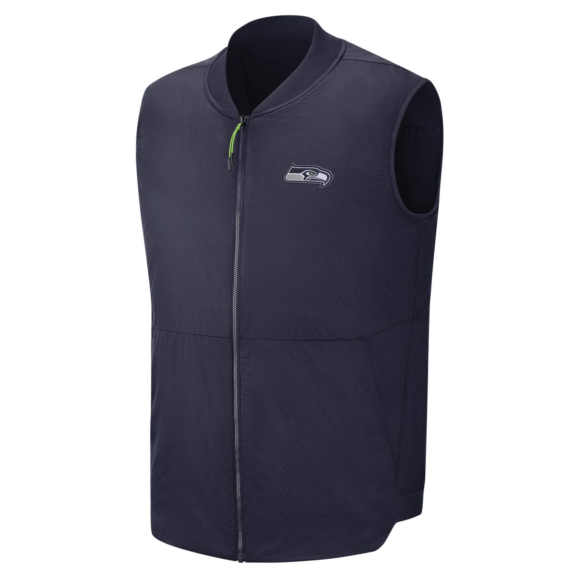 Nike NFL Seattle Seahawks Men's Vest (College Navy/Action Green, Medium)