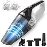 Homasy Handheld Vacuum Cordless, 8Kpa Hand Vacuum with Powerful Cyclonic Suction, Portable Vacuum Cleaner with Long Lasting u
